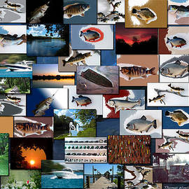 Thomas Woolworth - The Fishing Hole Collage Rectangle