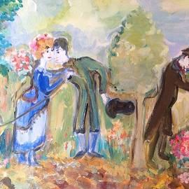 Judith Desrosiers - The Flower seller in the park