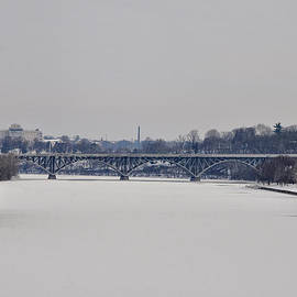 Bill Cannon - The Frozen Schuylkill and Strawberry Mansion Bridge
