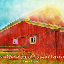 Debbie Nobile - The Glory Barn with Scripture