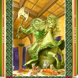 Melissa A Benson - The Green Knight Christmas Card