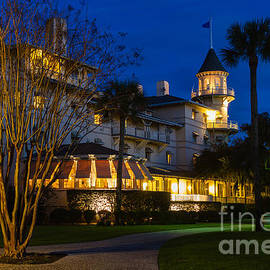Dawna  Moore Photography - The Jekyll Island Club Hotel at Twilight Jekyll Island Georgia
