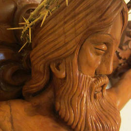 Persian Art - The Jesus Christ Sculpture Wood Work Wood Carving Poplar Wood Great For Church 2