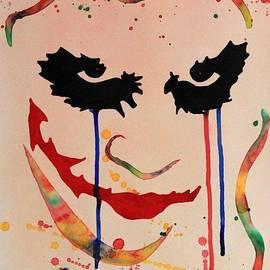 Georgeta  Blanaru - The Joker Heath Ledger original watercolor