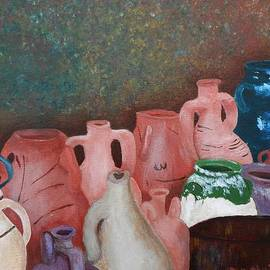 Dorothy Merritt - The Jugs at Santorini