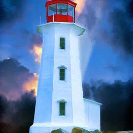 John Haldane - The Lighthouse at Peggys Cove