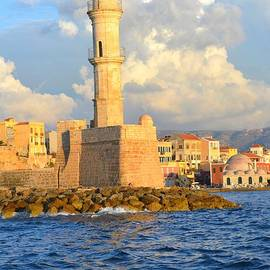Ana Maria Edulescu - The Lighthouse From Chania Venetian Harbor Crete Greece