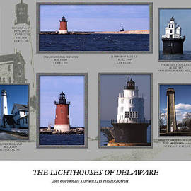 Skip Willits - THE LIGHTHOUSES OF DELAWARE COLLAGE
