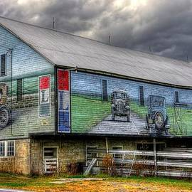 Michael Mazaika - The Lincoln Highway in Bedford County Pa - Barn Mural at Bison Corral Farm Near Schellsburg No. 1