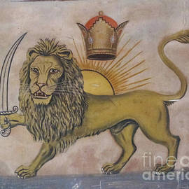 Persian Art - The Lion With The sword And The Crown Shahanshah