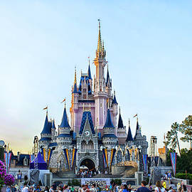 Thomas Woolworth - The Magic Kingdom Castle On A Beautiful Summer Day Horizontal