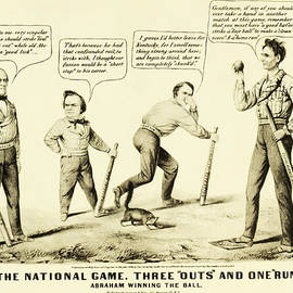 Digital Reproductions - The National Game - Abraham Lincoln Plays Baseball