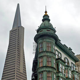 Jim Fitzpatrick - The Old and the New the Columbus Tower and the Transamerica Pyramid III