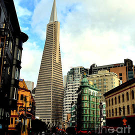 Jim Fitzpatrick - The Old and the New the Columbus Tower and the Transamerica Pyramid