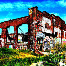 Jim Fitzpatrick - The Old Train Roundhouse at Bayshore near San Francisco and the cow Palace Altered