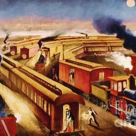 Lianne Schneider - The Railroad Junction - Circa 1880