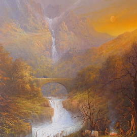 Joe  Gilronan - The road to Rivendell The Lord of the Rings Tolkien inspired art