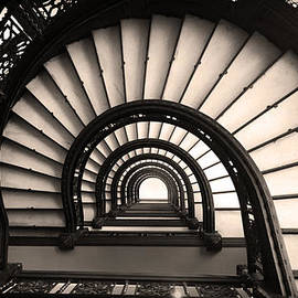 Kelly Hazel - The Rookery Staircase in Sepia Tone