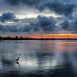 HH Photography of Florida - The Solitary Fisherman - Florida Sunset