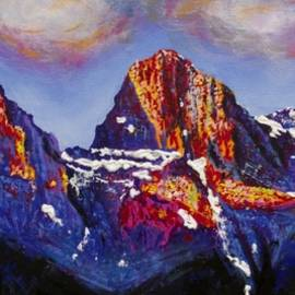 Joyce Sherwin - The Three Sisters Canmore Alberta Mountains