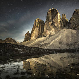 James Rushforth - The Tre Cime di Lavaredo by Night