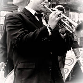 Kathleen K Parker - The Trumpet Player NOLA - Sepia