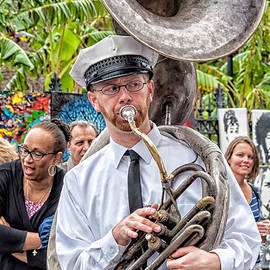 Kathleen K Parker - The Tuba Player - Jackson Square