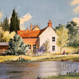 Bill Holkham - The Village Pond - Coleshill Buckinghamshire
