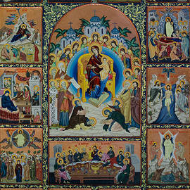 Claud Religious Art - The Virgin Mary with angels