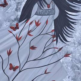 Saribelle Rodriguez - The Wind of the Spirit Acrylic Painting by Saribelle Rodriguez