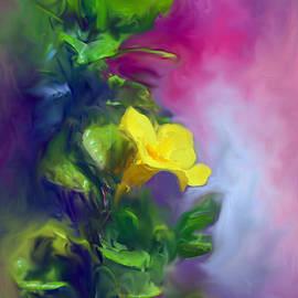 Usha Shantharam - The Yellow Mandevilla Flower 2