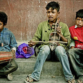 Valerie Rosen - Three Boys in Kathmandu