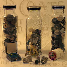 Sandra Foster - Three Button Jars