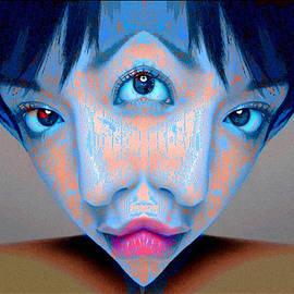 Alan Armstrong - Three Eyed Blue Female Mutant