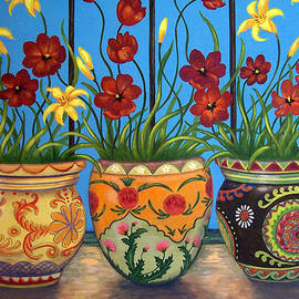 Glenda Stevens - Three Flower Pots