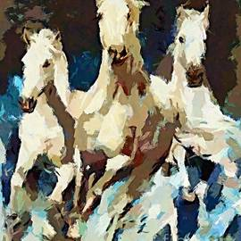 Dragica  Micki Fortuna - Three Lipizzans
