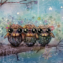 Karin Taylor - Three Little Night Owls