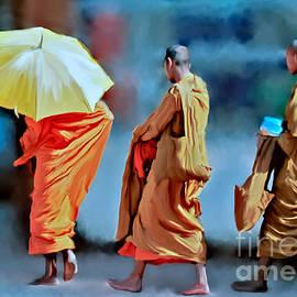 Ted Guhl - Three Monks Walking