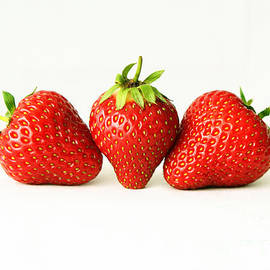Alan Harman - Three Strawberries On White H
