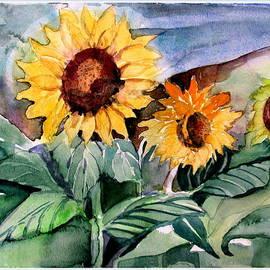 Mindy Newman - Three Sunflowers