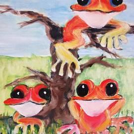 Rachel Carmichael - Three tee frogs