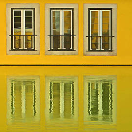 David Letts - Three Windows Reflecting in the Water