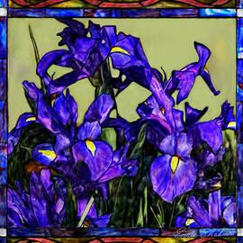 Enzie Shahmiri - Tiffany Style Blue Iris