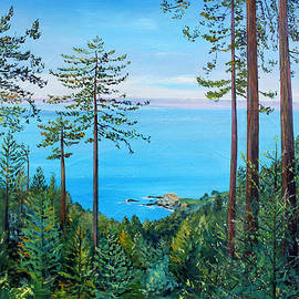 Asha Carolyn Young - Timber Cove on a Still Summer Day