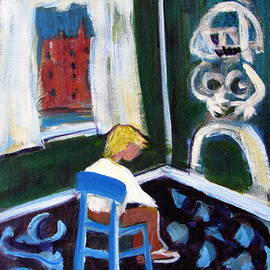 Betty Pieper - Time Out for de kooning in a Chair in a Corner
