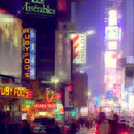 Miriam Danar - Times Square at Night - Columns of Light