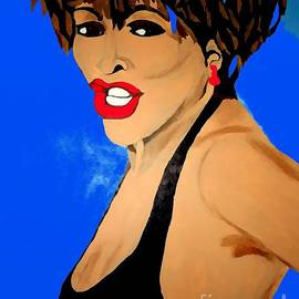 Saundra Myles - Tina Turner Fierce Blue Impression