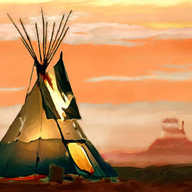 Bob and Nadine Johnston - Tipi or TePee Monument Valley