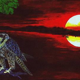 Zong Yi - To Reflect - Falcon and Sunset
