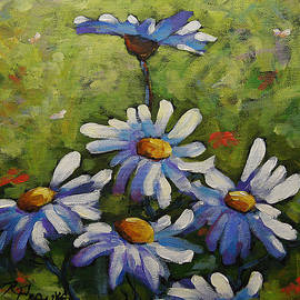 Richard T Pranke - Top Of The Bunch Daisies by Prankearts